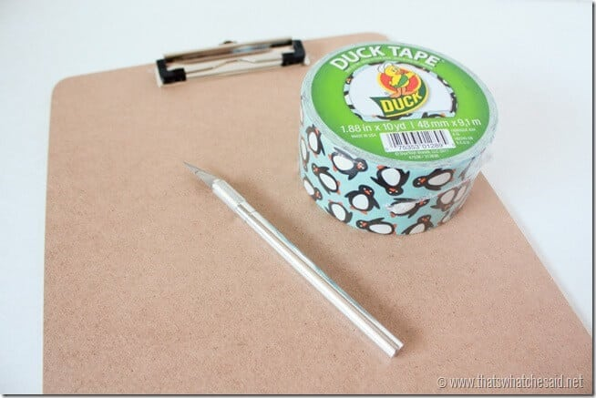 Duck Tape Clipboard Supplies at thatswhatchesaid