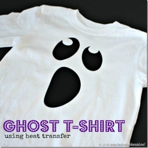 Ghost T-shirt using heat transfer vinyl and iron