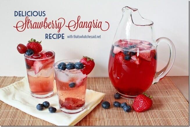 Simple Strawberry Sangria Recipe
