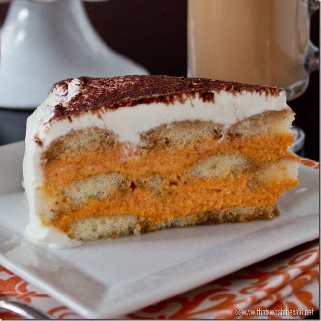 Slice of Pumpkin Tiramisu at thatswhatchesaid.net