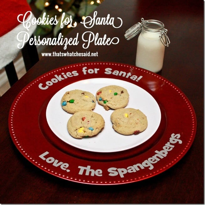 Personalized Cookies For Santa Plate at thatswhatchesaid.net_