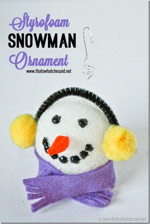 Styrofoam Snowman Ornament at thatswhatchesaid.net