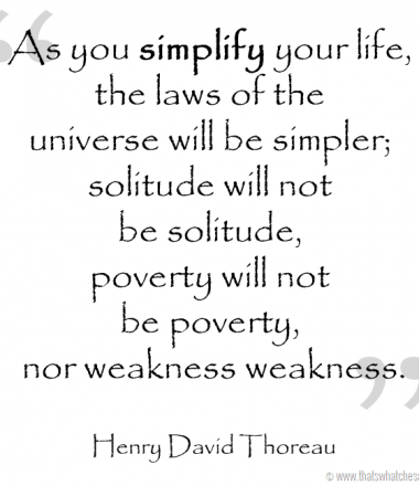 My word for 2014 - Simplify at thatswhatchesaid.net