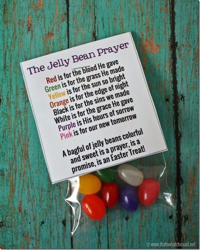 Free Printable Jelly Bean Prayer Bag Toppers