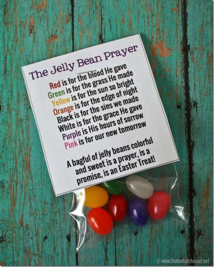 Free Printable Jelly Bean Prayer Bag Toppers