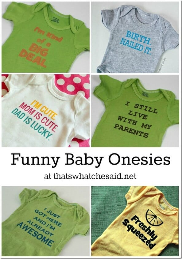 Funny Saying Onesies at thatswhatchesaid.net