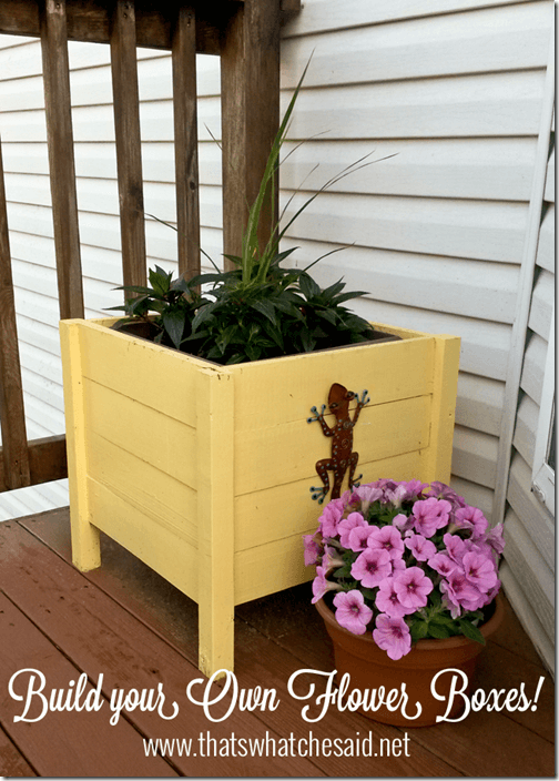 How to make your own Flower Boxes at thatswhatchesaid.net