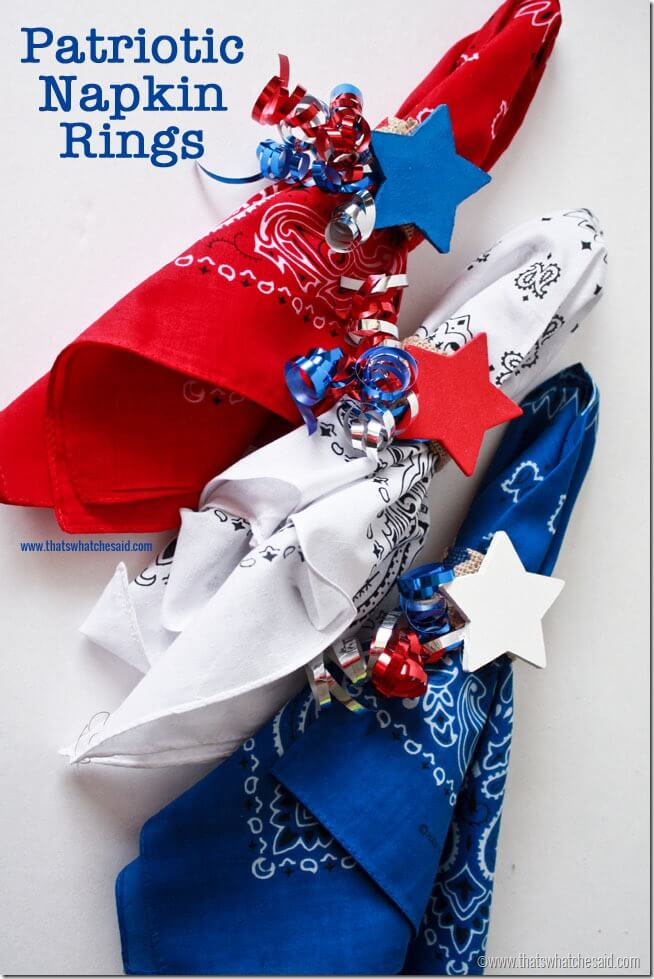 Patriotic Napkin Rings at thatswhatchesaid.com