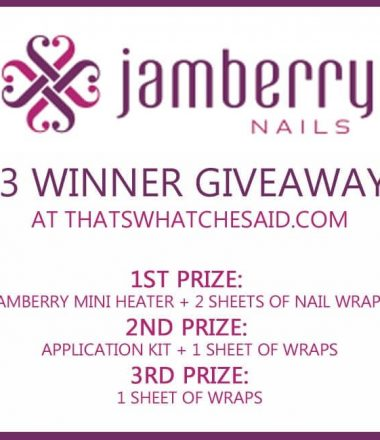 Jamberry Nail Wrap Giveaway + Party at thatswhatchesaid.com