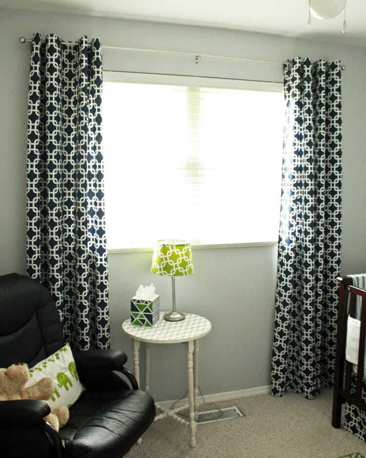 DIY Lined Grommet Top Curtain Panels  Thats What Che