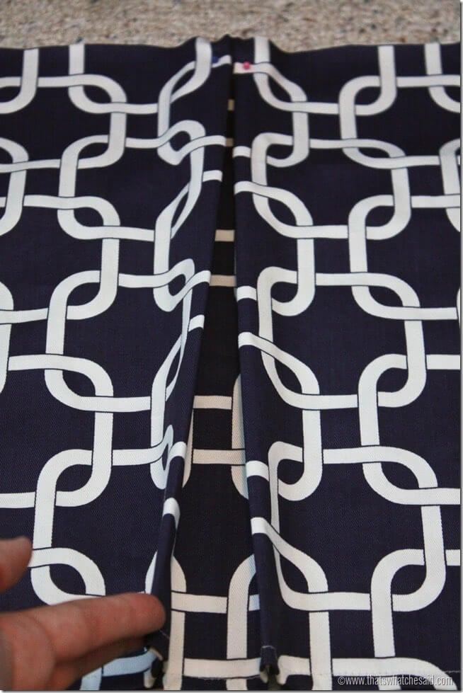 How to make a box pleat crib skirt