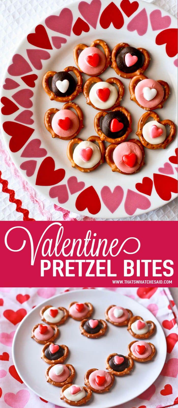 Easy Valentine Pretzel Bites at www.thatswhatchesaid.com