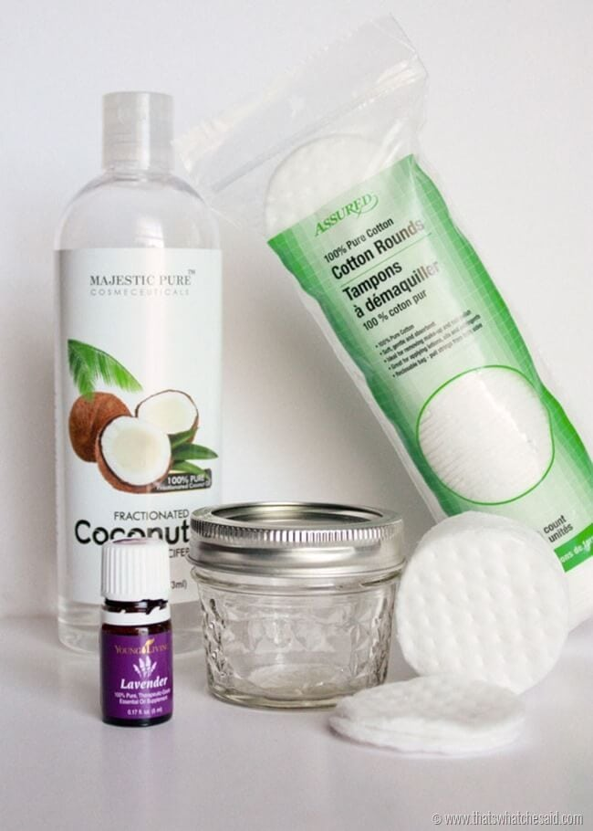 How to make your own eye make up remover pads at thatswhatchesaid.com
