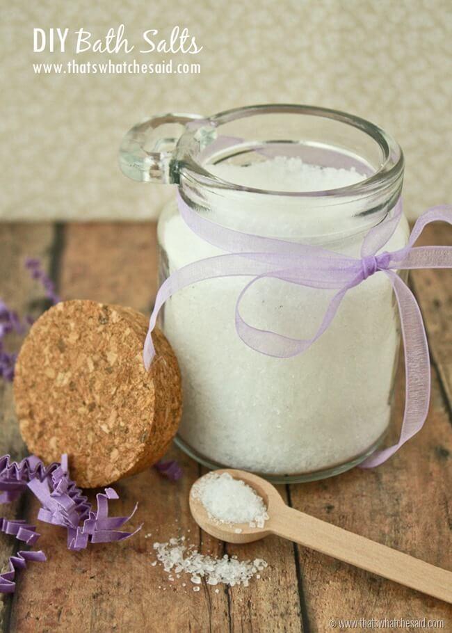 DIY Bath Salt Recipe at thatswhatchesaid.com