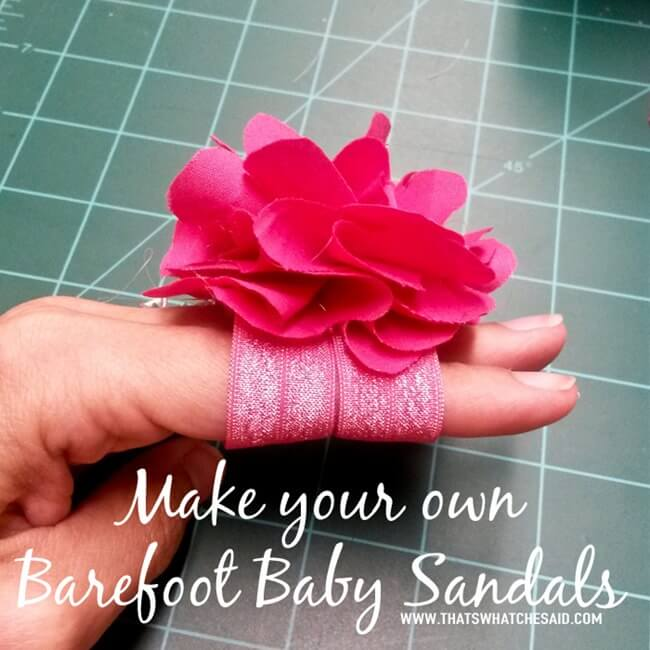 How to make your own Barefoot Baby Sandals