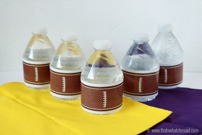 Football Water Bottle Labels at www.thatswhatchesaid.com