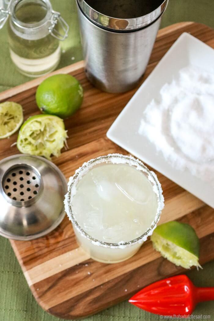 Fresh Ingredients Margarita Recipe - Classic Margarita without mix