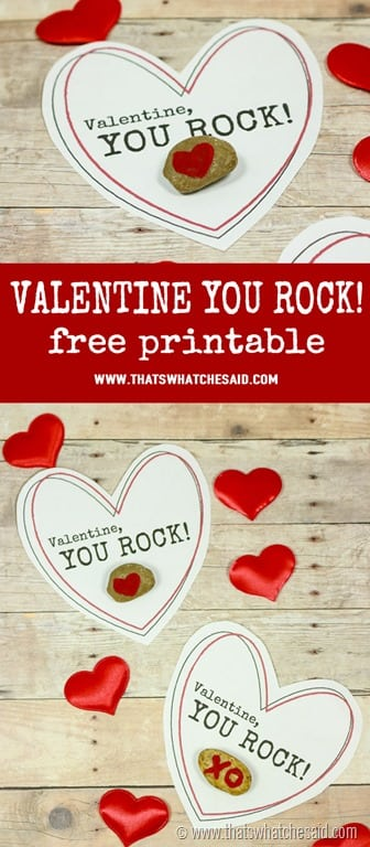 Non Candy Valentine You Rock Free Printable at www.thatswhatchesaid.com