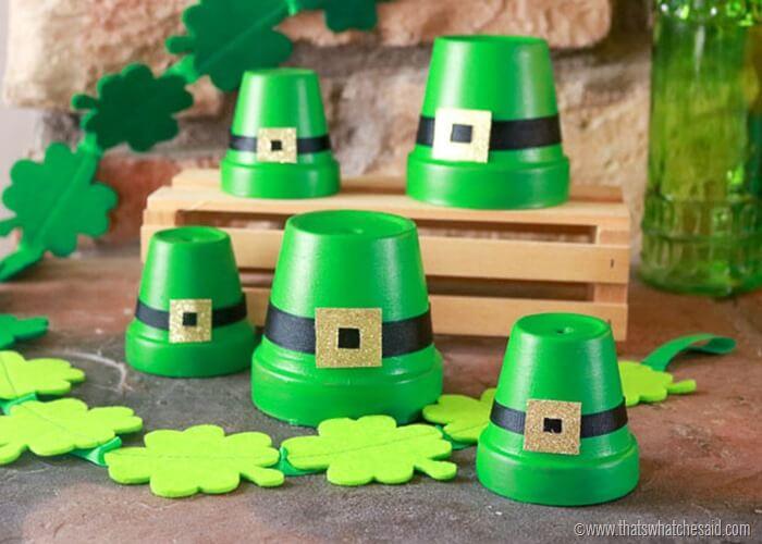 Clay Pot Leprechaun Hat Craft