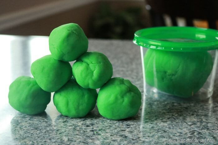 Leprechaun Poop Green Play Dough