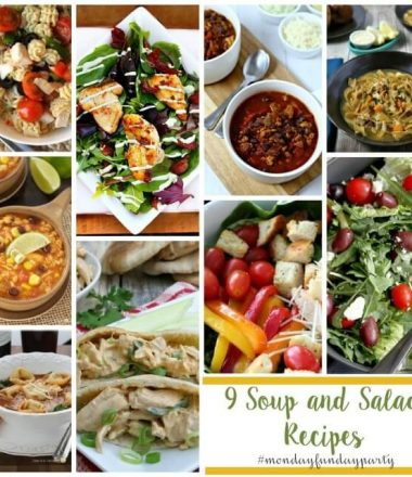 Soup & Salad Recipes at Monday Funday Link Party