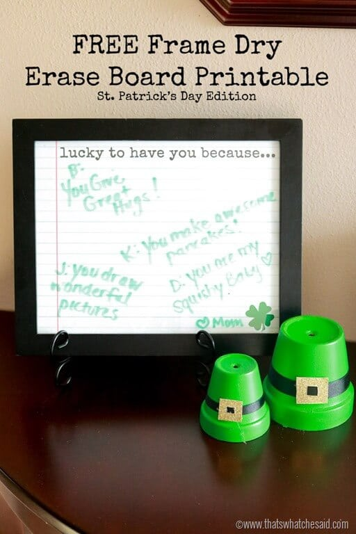 Lucky To Have You Free Printable