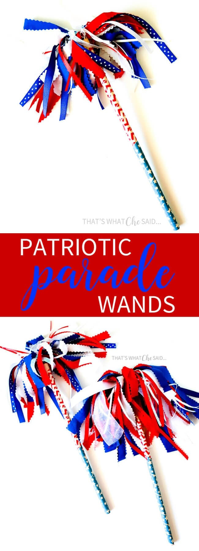 asy Patriotic Parade Wand Shakers. Perfect to craft with the kids!