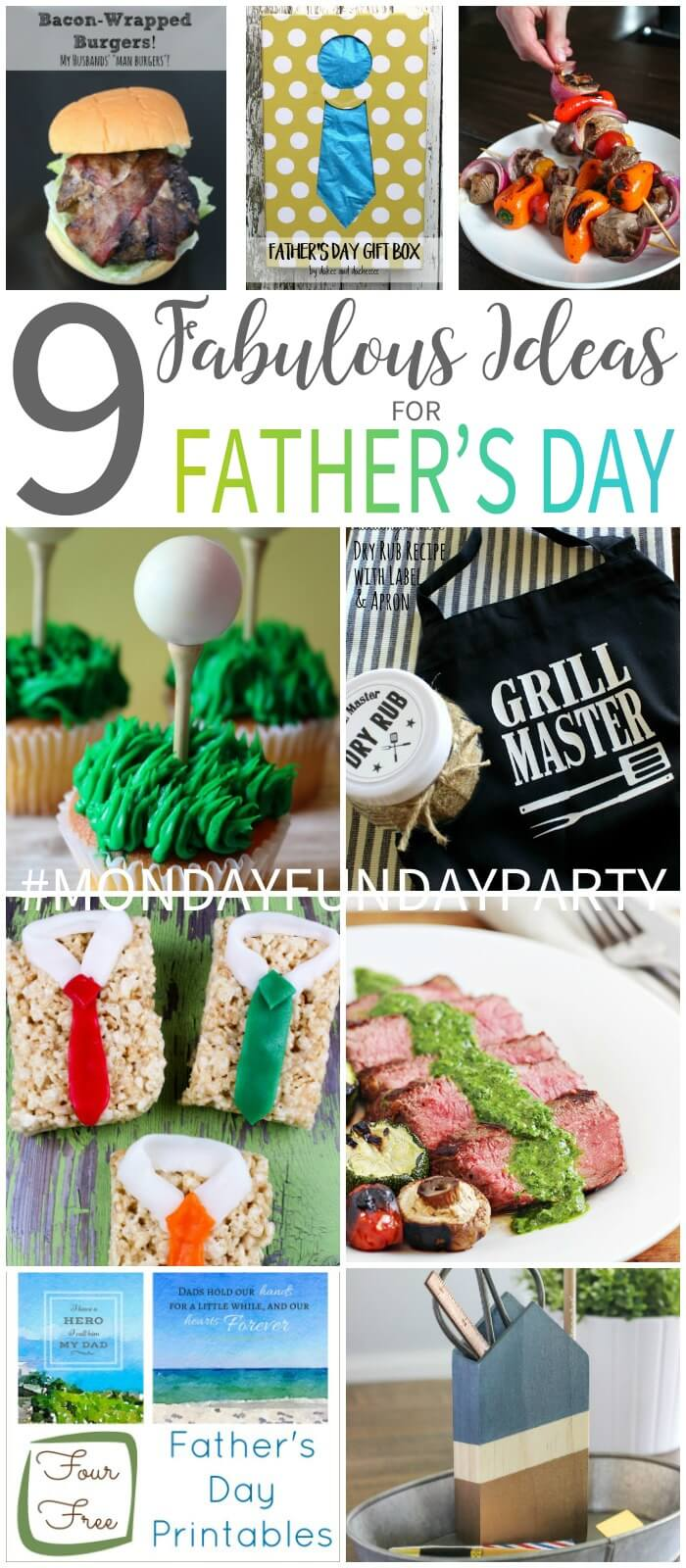 Father's Day Ideas at Monday Funday Link Party