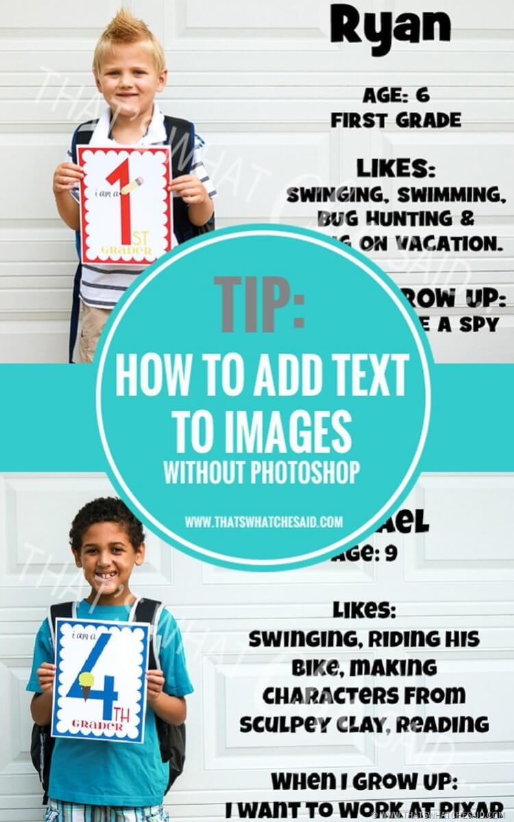 Add text to Photos without Photoshop