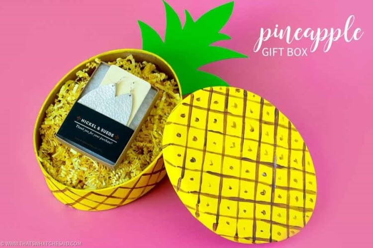 Fun Pineapple Gift Box Craft