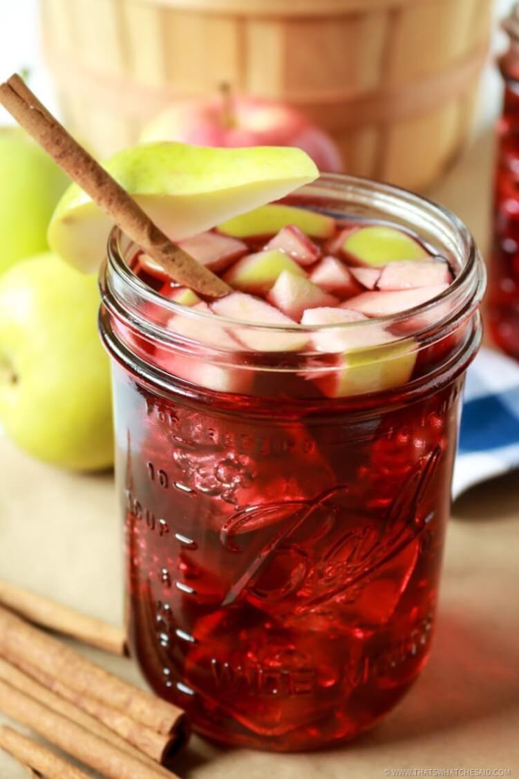 Cinnamon Apple Sangria Recipe - Perfect fall drink