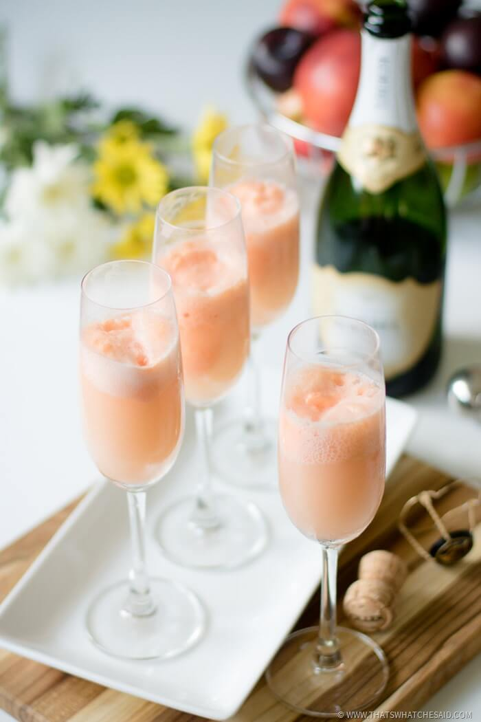 Fresh Spin on the Classic Mimosa - Mimosa Floats