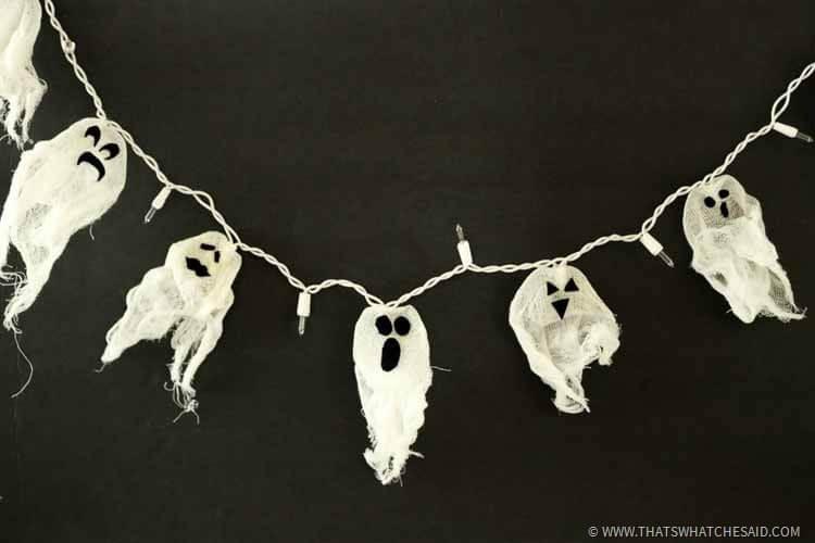 DIY Ghost Lights - DIY Halloween Decor Idea