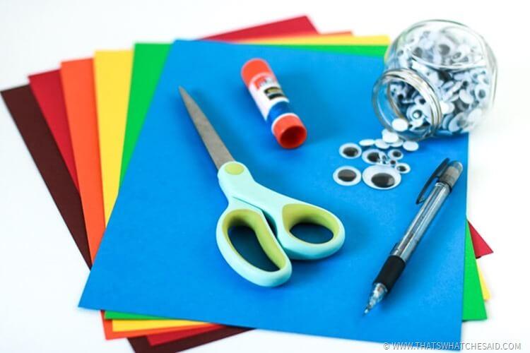 Easy Paper Turkey Kids Craft Supplies