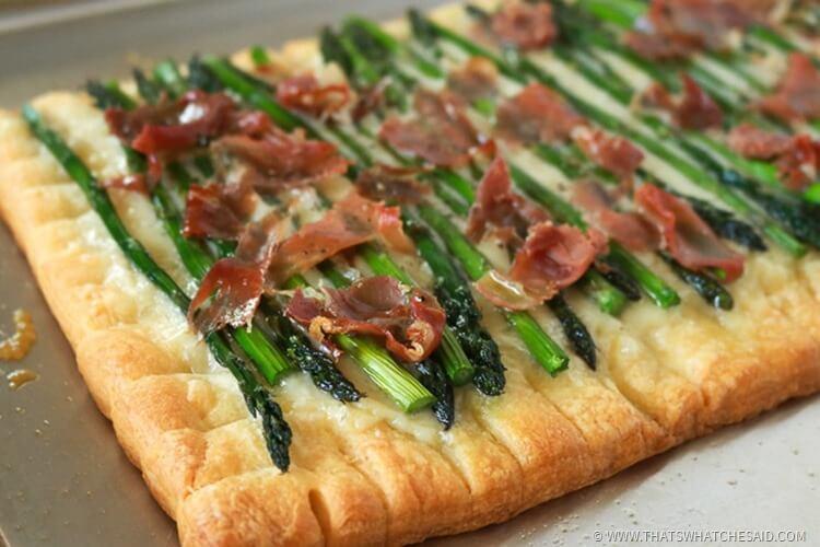 Proscuitto Asparagus Tart recipe