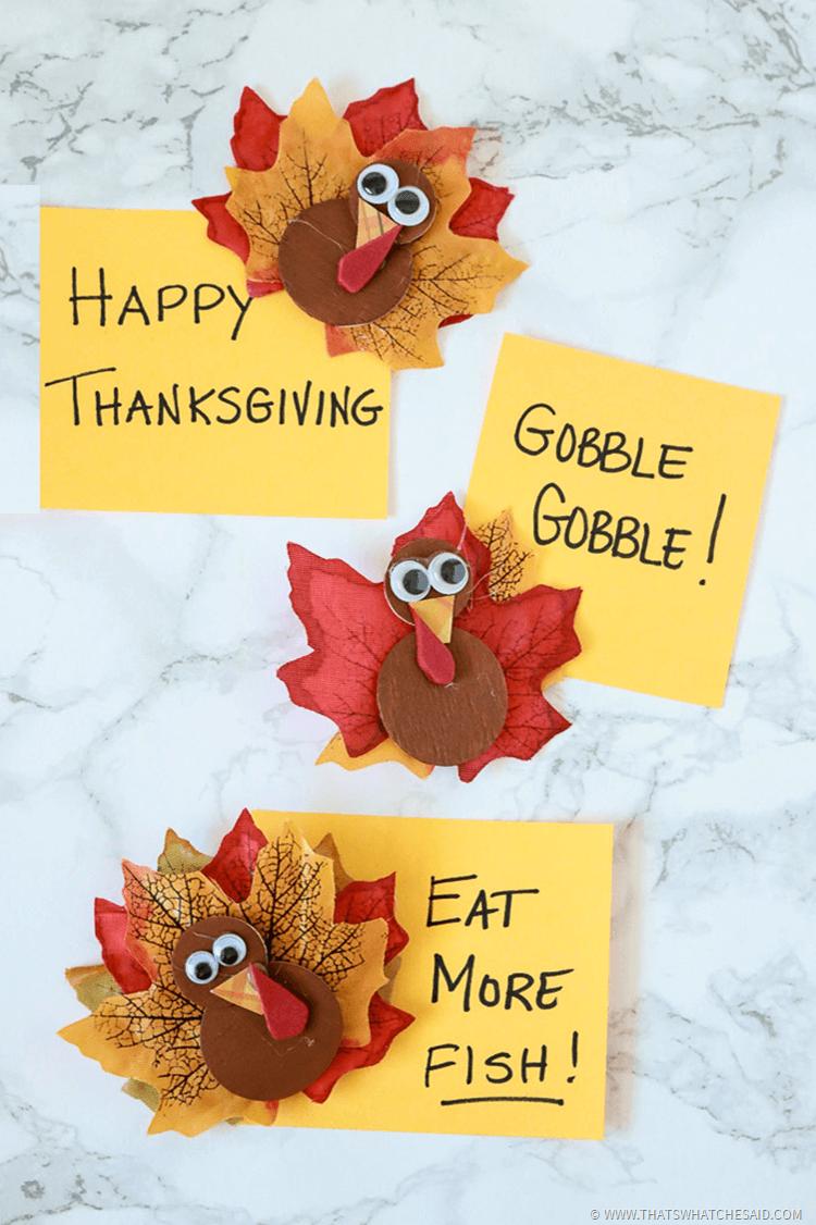 Turkey Magnets - Easy Thanksgiving Craft Idea
