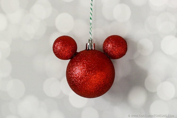 Mickey Ornament Clear Diy Mouse