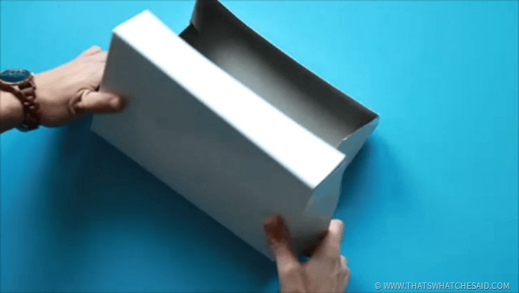 Make use of those single sides of gift boxes