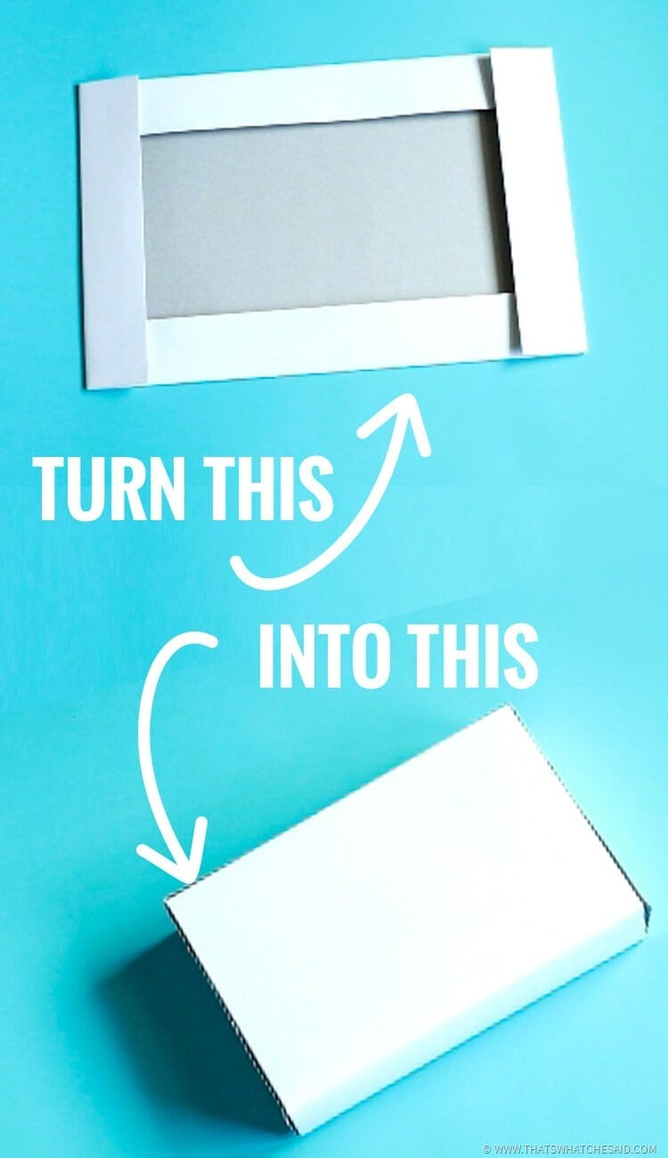 Upcycle a Box Half into a Complete Box with Top & Bottom