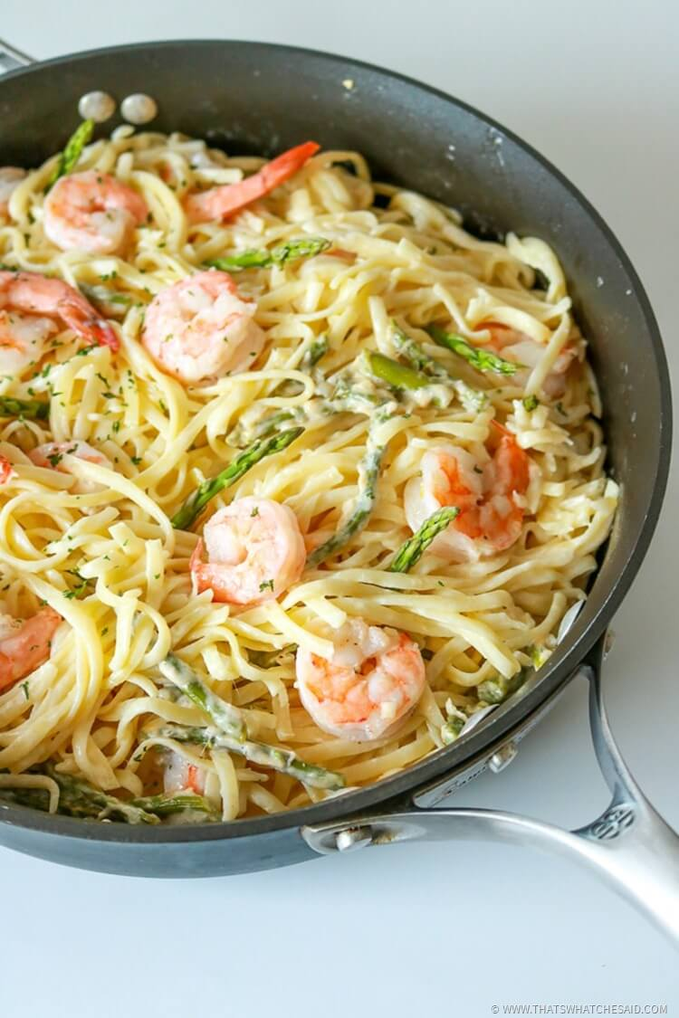 Garlic Shrimp in White Wine Butter Sauce