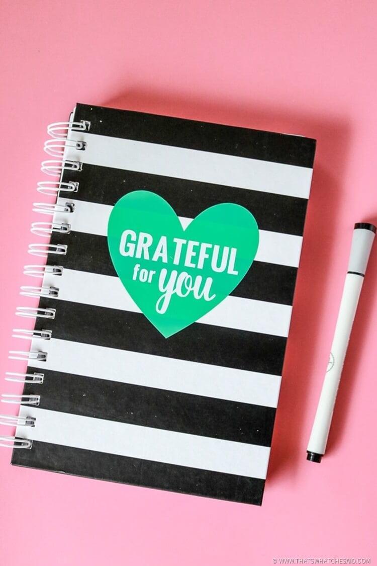 Handmade Gift Idea Gratitude Journal - Perfect Heartfelt Keepsake