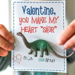 Dinosaur Printable Valentines