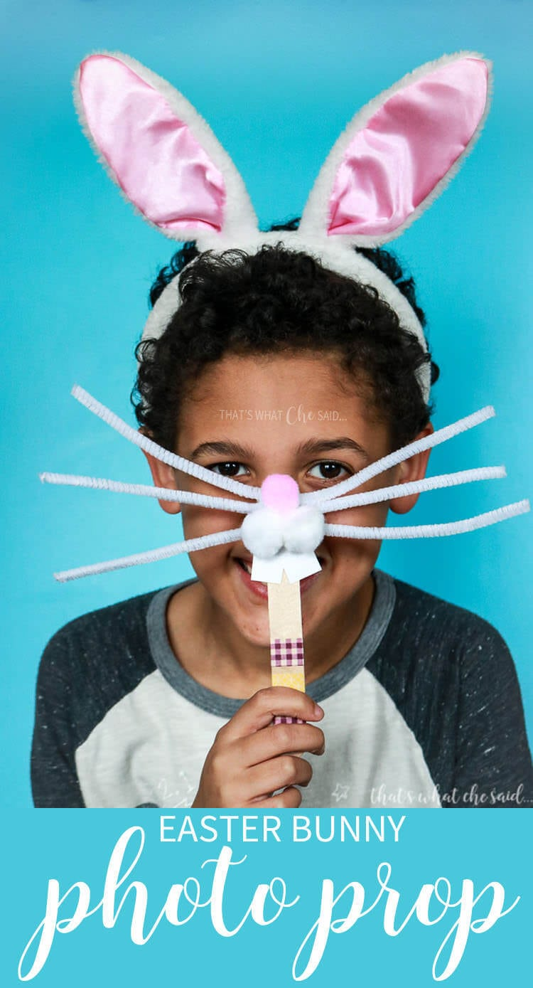 Easter Bunny Photo Prop - Kids Easter Craft Idea