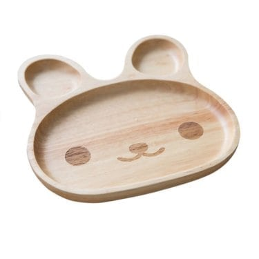 children's wooden Easter Bunny Plate