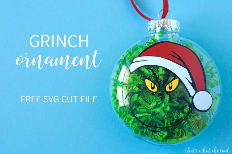 Fun Grinch Ornament with him sporting a Santa Hat!