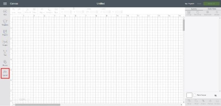 Uploading New File into cricut Design Space