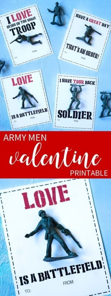 Army Men Boy's Printable Valentine