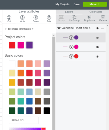 Changing to 1 color in Design Space