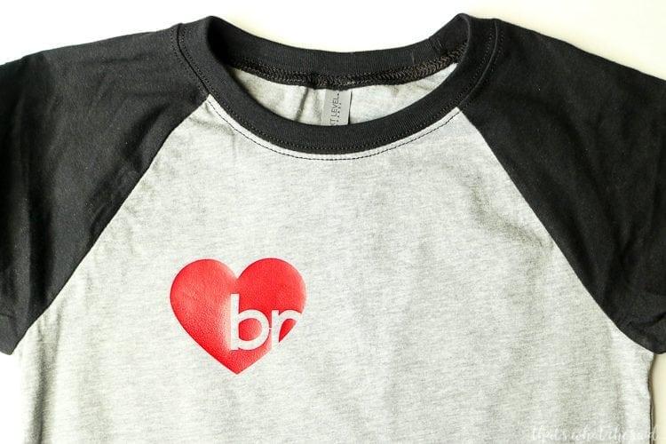 Layering Vinyl on Kid's Valentine's Day Shirt