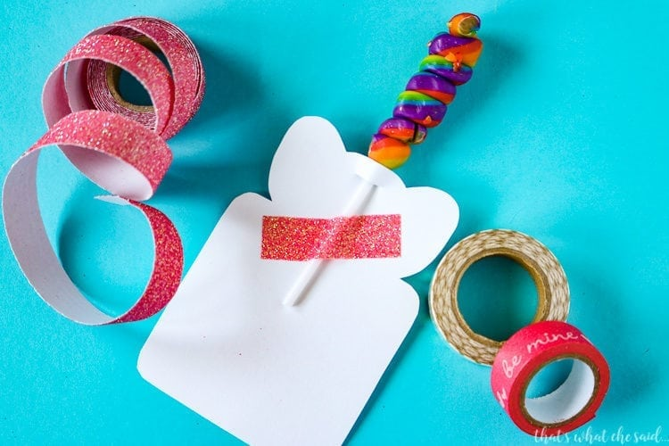 Unicorn Lollipop Valentine Cards